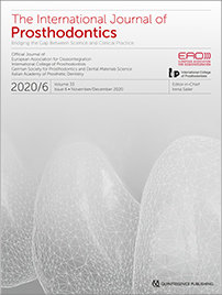 The International Journal of Prosthodontics, 6/2020