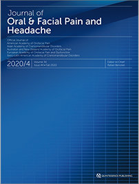 Journal of Oral & Facial Pain and Headache, 4/2020