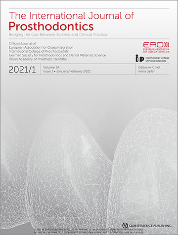 The International Journal of Prosthodontics, 1/2021