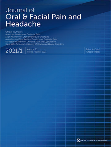Journal of Oral & Facial Pain and Headache, 1/2021