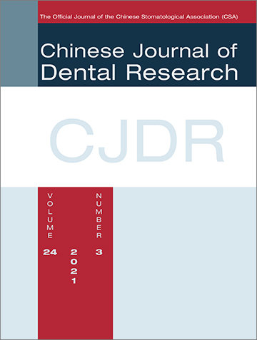 Chinese Journal of Dental Research, 3/2021