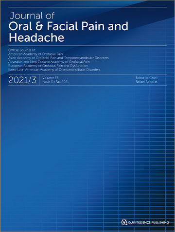 Journal of Oral & Facial Pain and Headache, 3/2021
