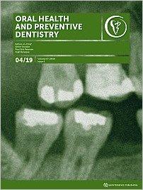 Oral Health and Preventive Dentistry, 4/2019