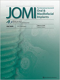 The International Journal of Oral & Maxillofacial Implants, 4/2019