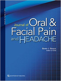 Journal of Oral & Facial Pain and Headache, 3/2018