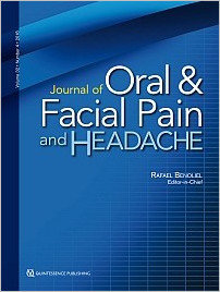 Journal of Oral & Facial Pain and Headache, 4/2018