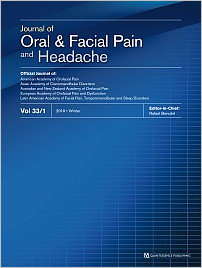 Journal of Oral & Facial Pain and Headache, 1/2019