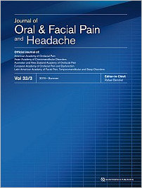 Journal of Oral & Facial Pain and Headache, 3/2019