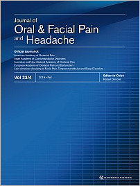 Journal of Oral & Facial Pain and Headache, 4/2019
