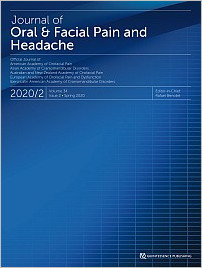 Journal of Oral & Facial Pain and Headache, 2/2020