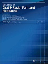 Journal of Oral & Facial Pain and Headache, 3/2020