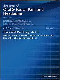 Journal of Oral & Facial Pain and Headache, 5/2020