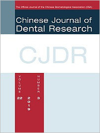 Chinese Journal of Dental Research, 3/2019