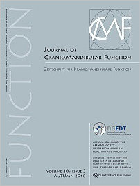 Journal of Craniomandibular Function, 3/2018