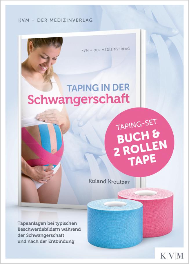 Kreutzer: Taping in der Schwangerschaft: Buch plus 2 Rollen Tape