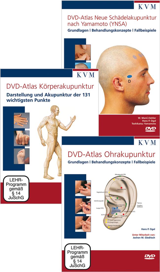 Hammes: DVD-Atlanten Körperakupunktur, Ohrakupunktur und Neue Schädelakupunktur